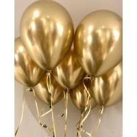Золотые хромовые шары