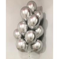 Серебряные хромовые шары