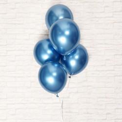 Синие хромовые шары