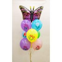 Гелиевый фонтан с бабочкой