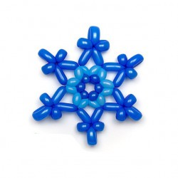 Снежинка из шаров