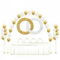 Свадебное оформление с кольцами