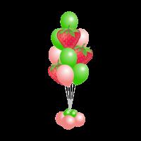 Фонтан из шаров с клубникой