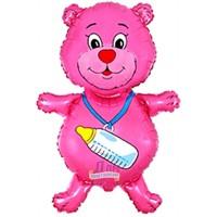Розовый мишка с бутылочкой