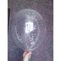 Стандартный шар с серебристым конфетти в виде звездочек
