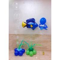 """Композиция """"Подводный мир"""" в сине-зеленых тонах ребенку"""