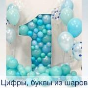 Цифры, буквы из шаров