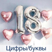 Цифры и буквы из шаров